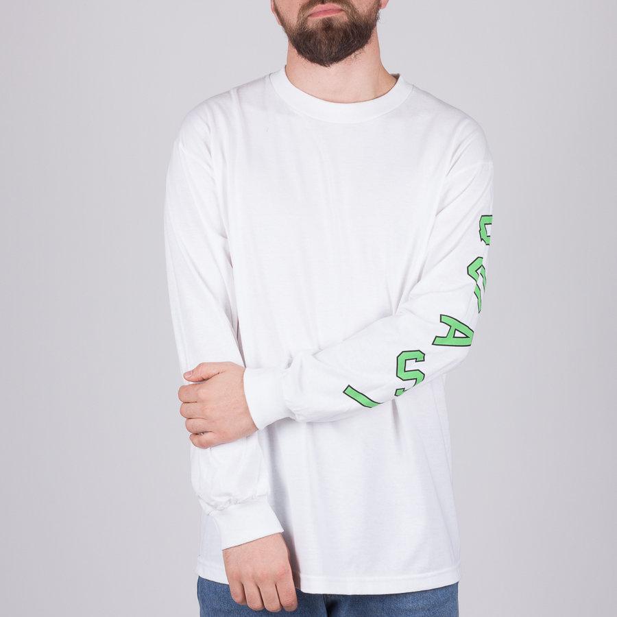 Bílé pánské tričko s dlouhým rukávem Quasi - velikost L
