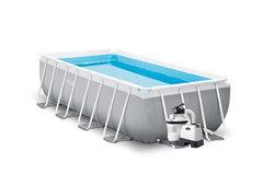 Nadzemní obdélníkový bazénový set INTEX - délka 400 cm, šířka 200 cm a výška 100 cm
