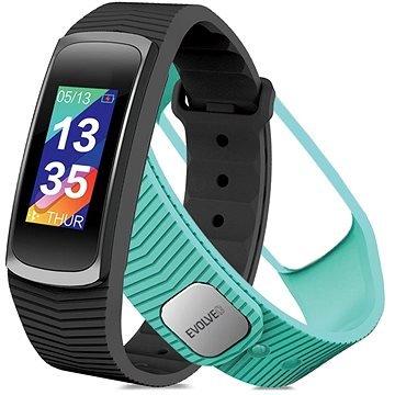 Černý nebo tyrkysový fitness náramek FitBand B3, Evolveo