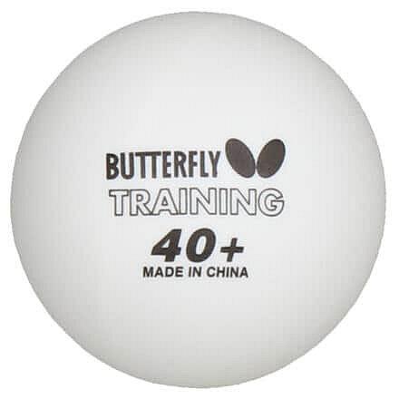 Bílý míček na stolní tenis Butterfly - 6 ks