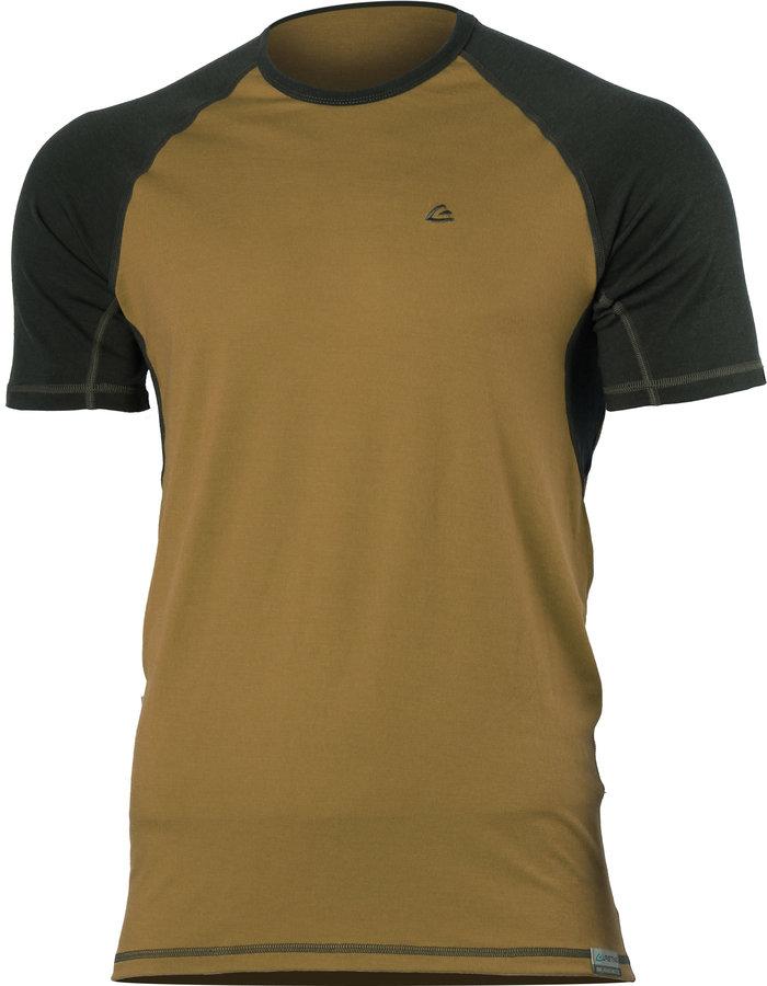 Černo-žluté pánské tričko s krátkým rukávem Lasting