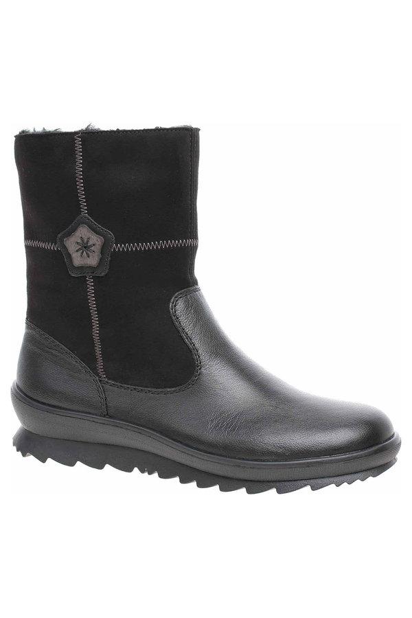 Černé dámské zimní boty Remonte - velikost 39 EU