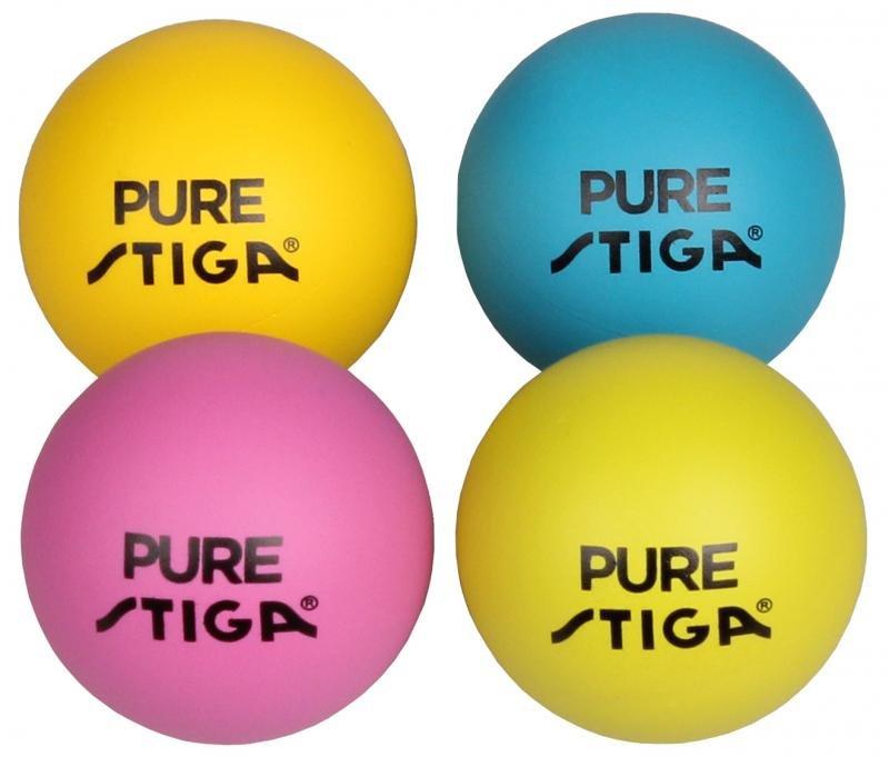 Různobarevný míček na stolní tenis Stiga - 4 ks