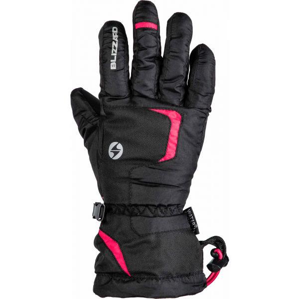 Růžové dětské zimní rukavice Blizzard