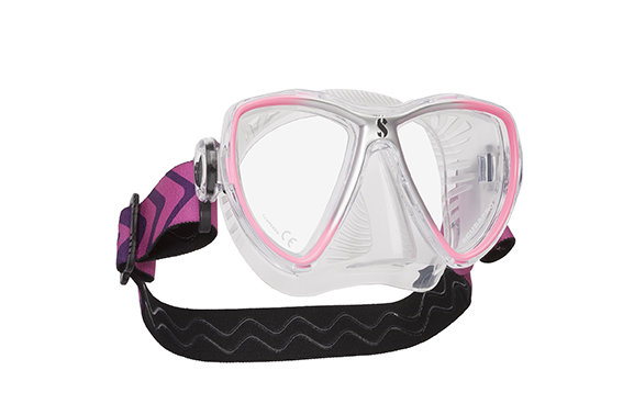 Potápěčská maska - Maska potápěčská Synergy Mini Scubapro - designová maska - růžovo/stříbrná - čirá