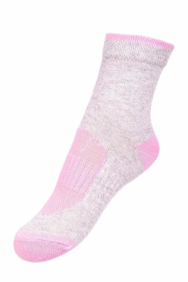 Bílo-růžové dětské kotníkové ponožky Alpine Pro - velikost M