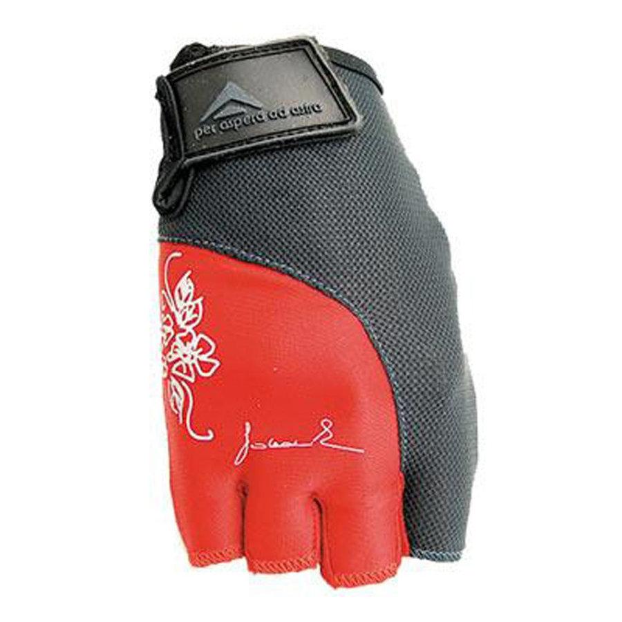 Černo-červené dámské fitness rukavice Polednik