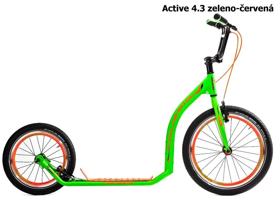Oranžovo-zelená BMX dětská dívčí nebo chlapecká koloběžka pro dospělé ACTIVE, Crussis