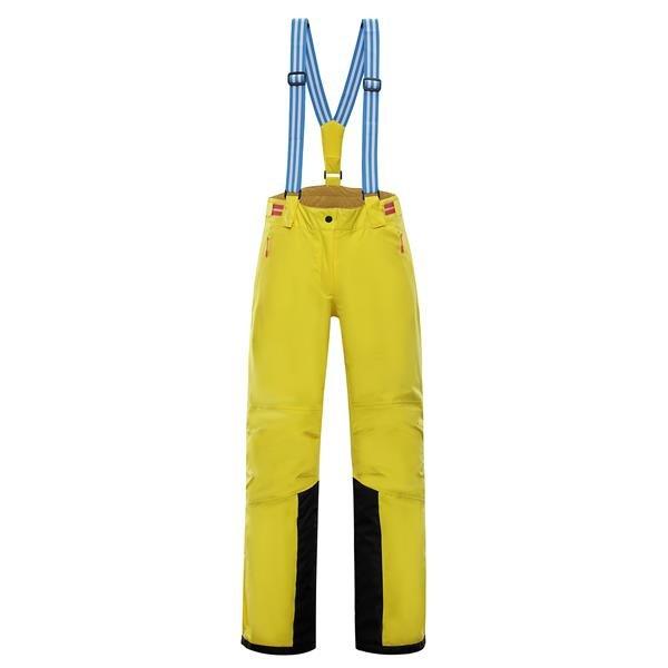 Žluté dámské lyžařské kalhoty Alpine Pro