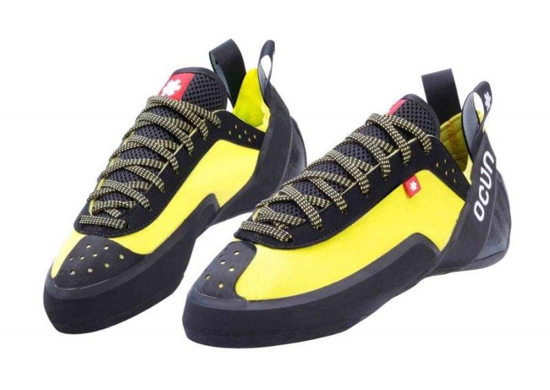Černo-žluté lezečky Ocún - velikost 40,5 EU
