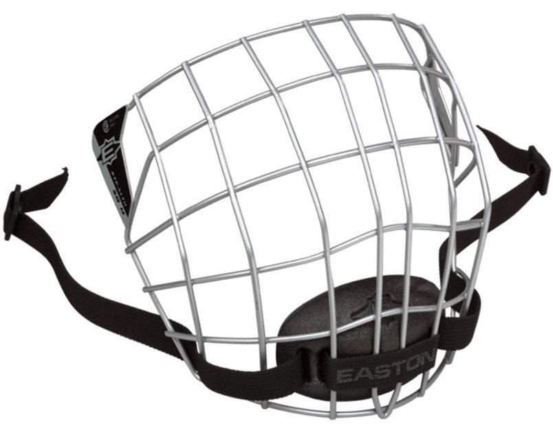 Stříbrná hokejová mřížka Easton - velikost S