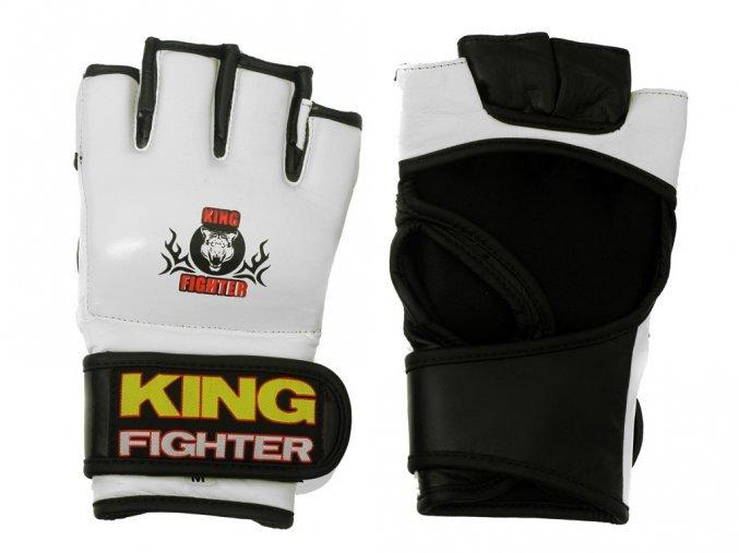 Bílé MMA rukavice King fighter