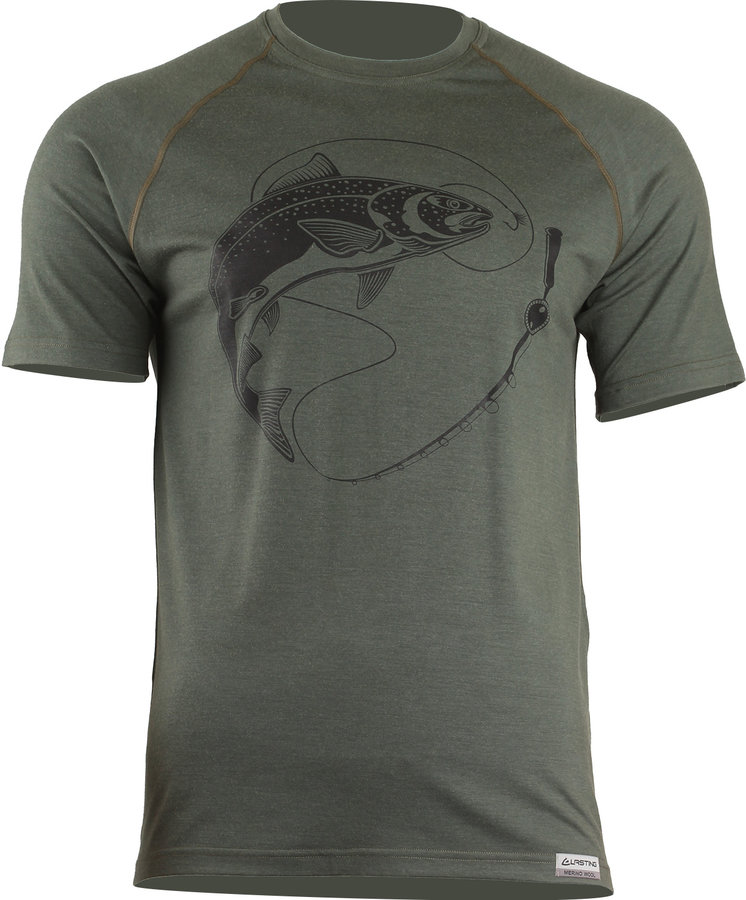 Zelené pánské tričko s krátkým rukávem Lasting - velikost S