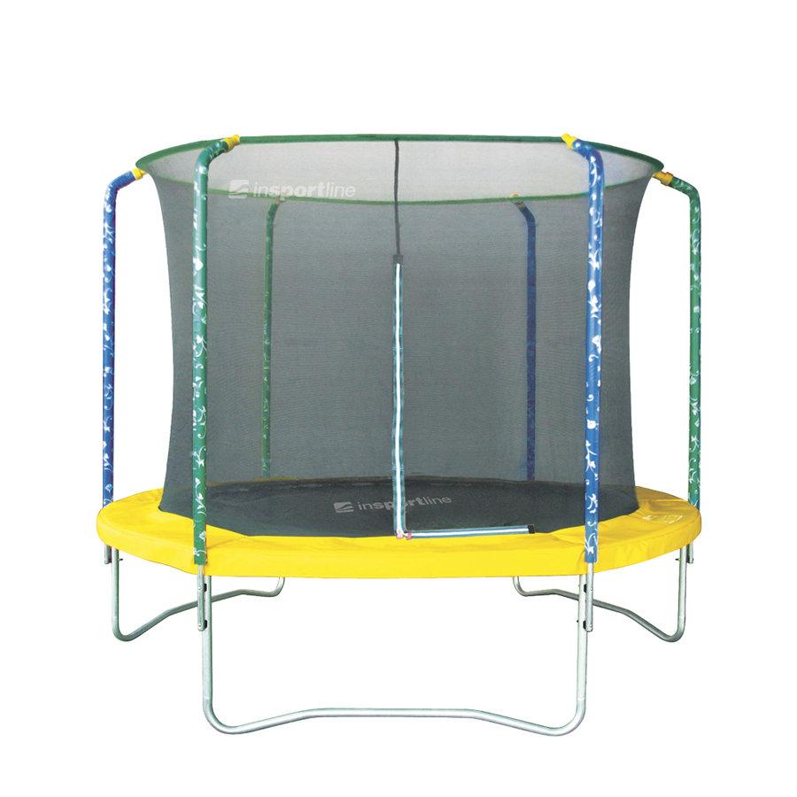 Kruhová trampolína s ochrannou sítí Insportline - průměr 244 cm