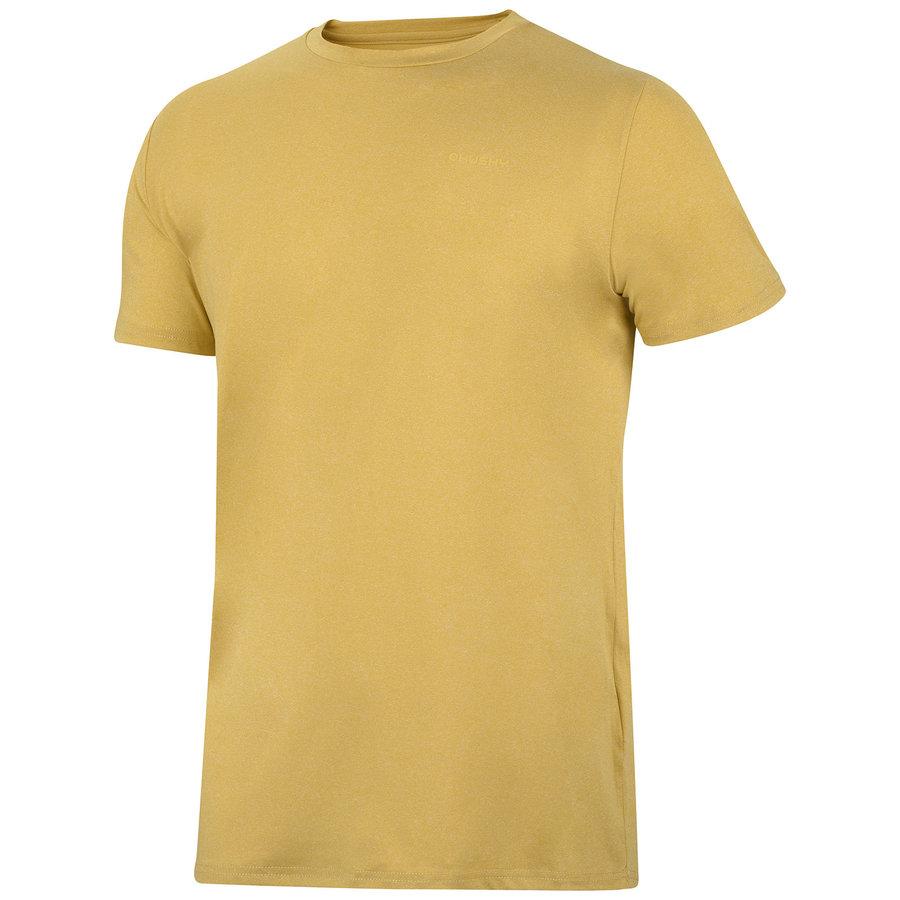 Žluté pánské tričko s krátkým rukávem Husky