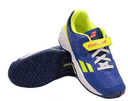 Modro-žlutá pánská tenisová obuv Pulsion, Babolat - velikost 32 EU