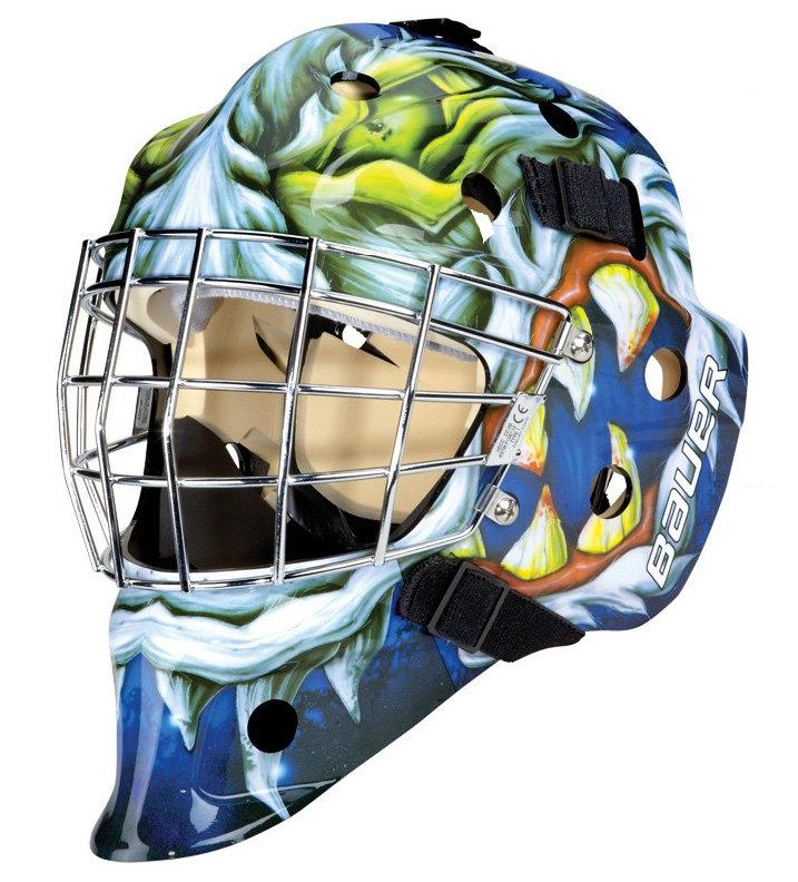 Různobarevná brankářská maska - senior NME 3 Mad Dog, Bauer