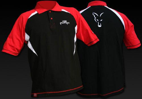 Černo-červené pánské rybářské tričko Cotton, Fox International - velikost M