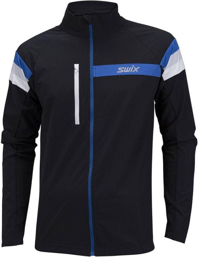 Černá pánská bunda na běžky Swix
