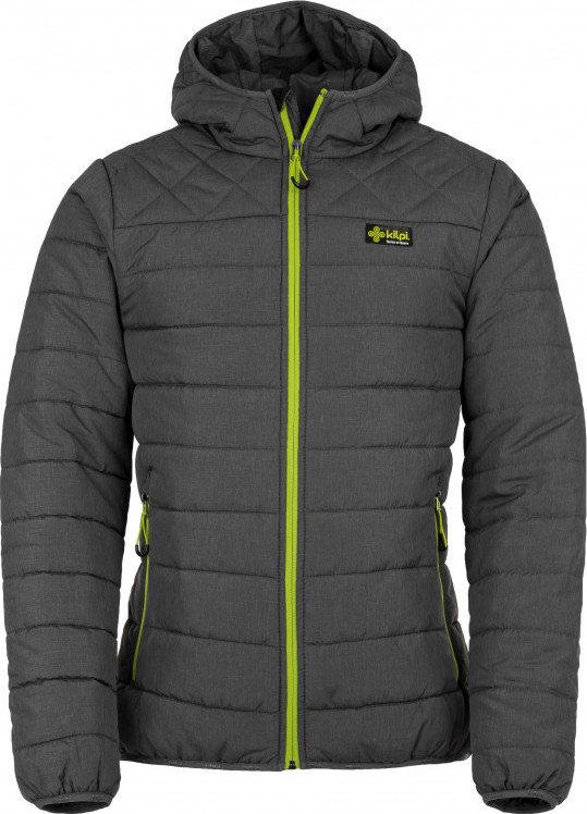 Šedá zimní pánská bunda s kapucí Kilpi - velikost S
