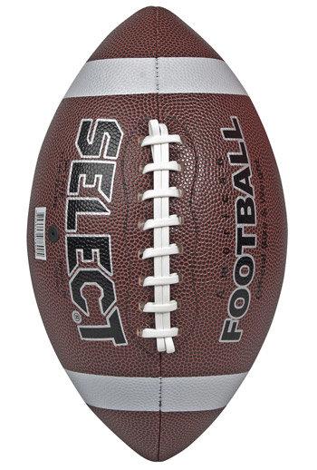 Hnědý kožený míč na americký fotbal American Football Super, Select - velikost 5