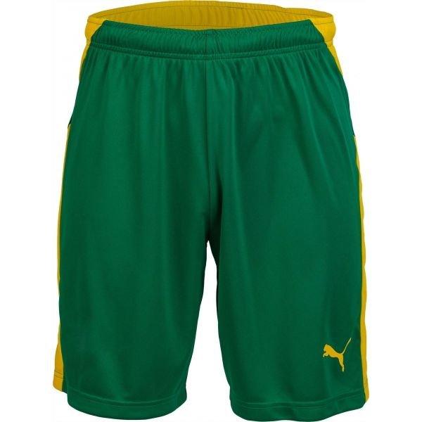 Zelené pánské fotbalové kraťasy Puma