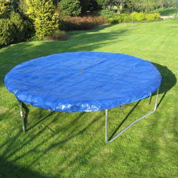 Modrá kruhová krycí plachta na trampolínu Masterjump - průměr 396 cm