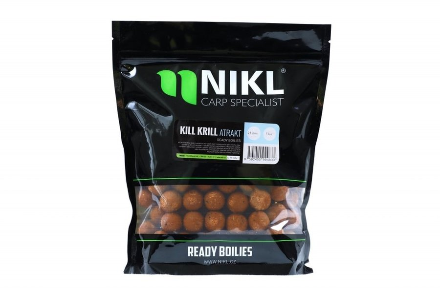 Boilies - Nikl Boilies Kill Krill Atrakt - 18mm 1kg