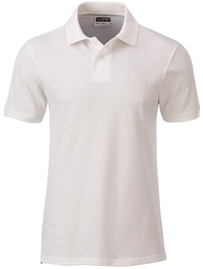 Bílá pánská polokošile s krátkým rukávem James & Nicholson - velikost S