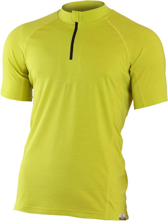 Žluté pánské tričko s krátkým rukávem Lasting - velikost S