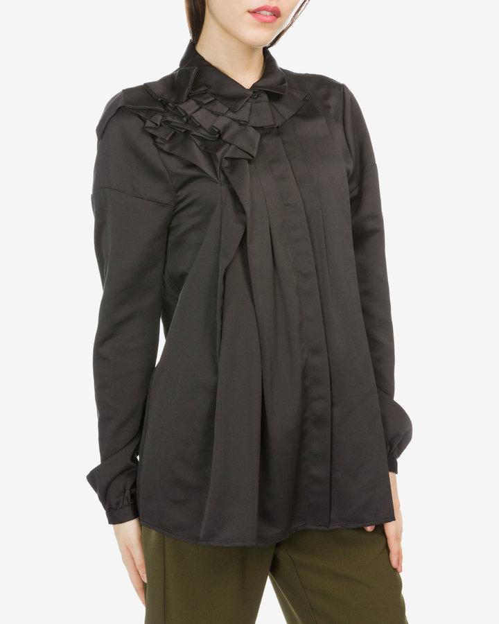 Černá dámská košile s dlouhým rukávem Silvian Heach - velikost XS