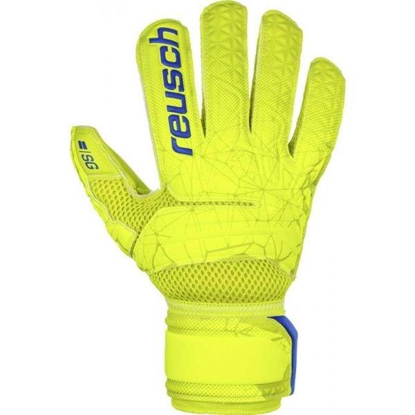 Žluté pánské brankářské fotbalové rukavice Reusch