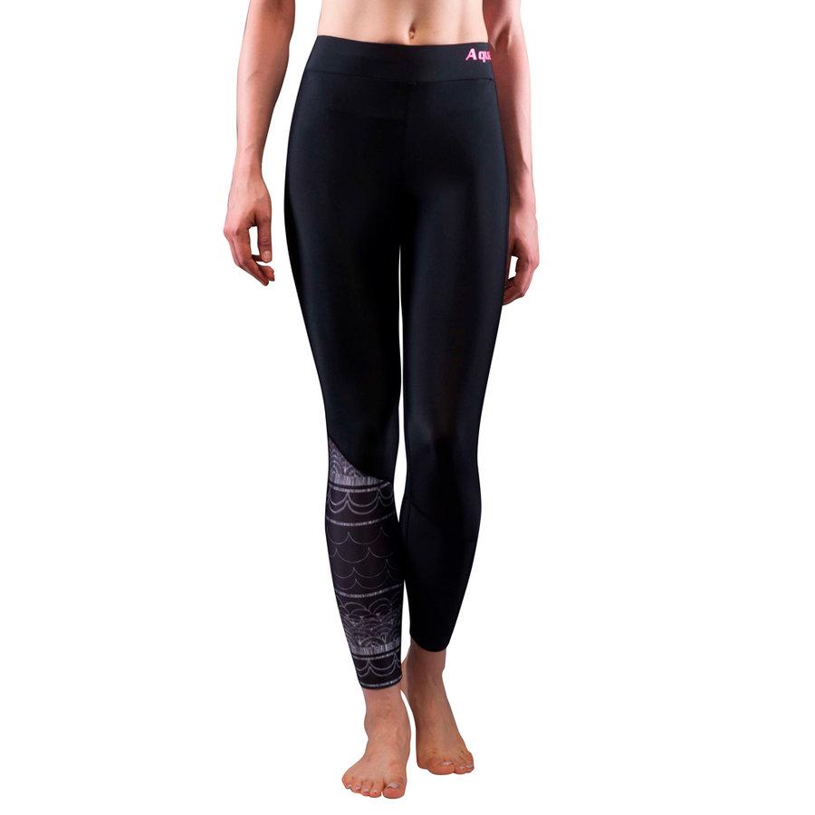 Černé dámské lycrové kalhoty Illusion 5b092fec6b