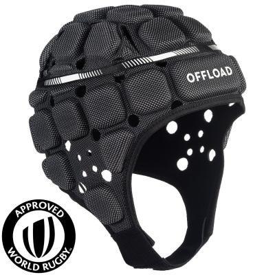 Černá přilba na ragby R900, Offload