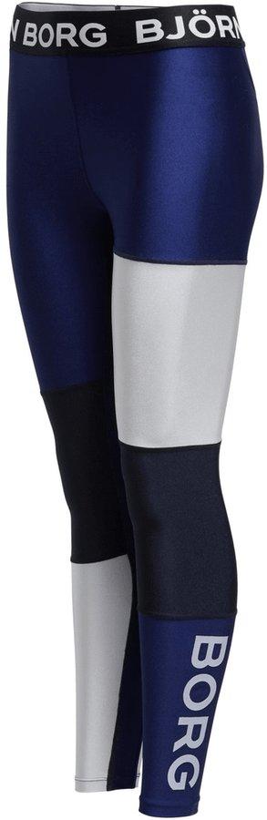 Bílo-modré dámské běžecké legíny Björn Borg - velikost 40