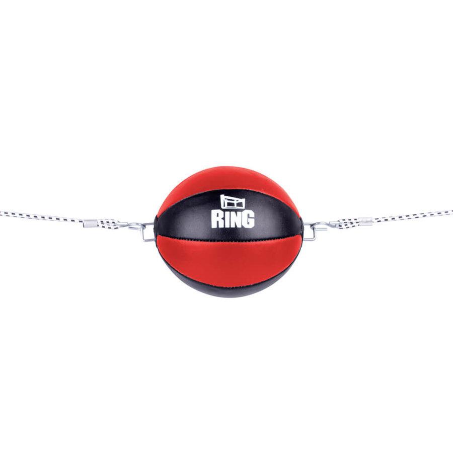 Černo-červená závěsná boxovací hruška inSPORTline - 0,33 kg