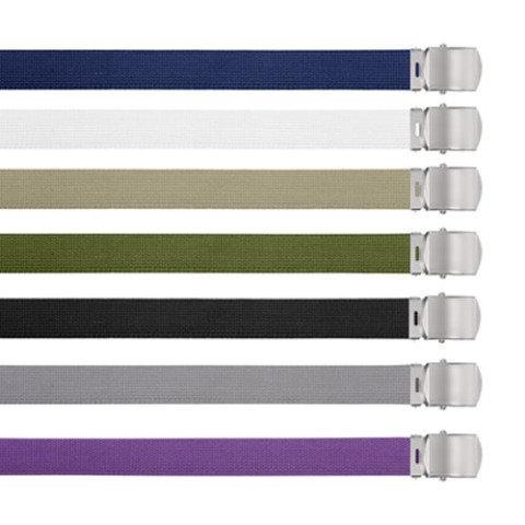 Opasek - Opasek US kalhotový se stříbrnou sponou ČERNÝ dl.110 cm
