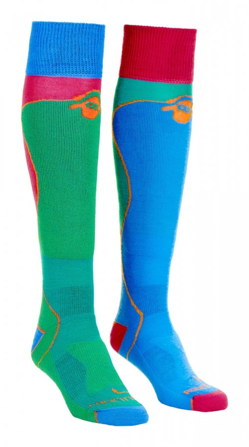 Modro-zelené merino dámské lyžařské ponožky Ortovox - velikost 42-43 EU