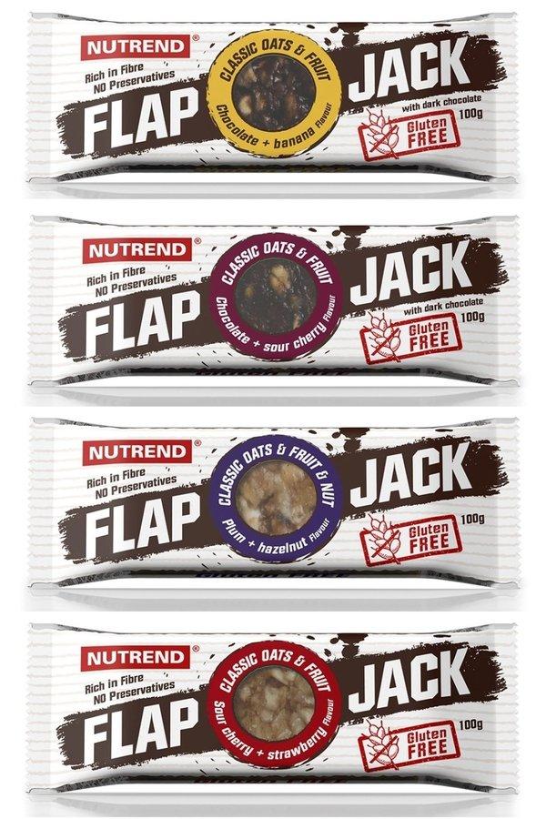 Energetická tyčinka - Nutrend Flapjack GLUTEN FREE 100 g Příchuť čokoláda/višeň s hořkou čokoládou