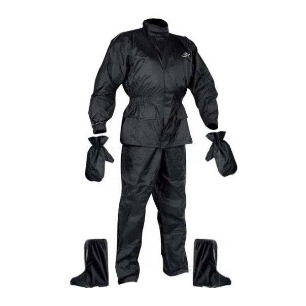 Černá motorkářská kombinéza Set Rainpack, Nox
