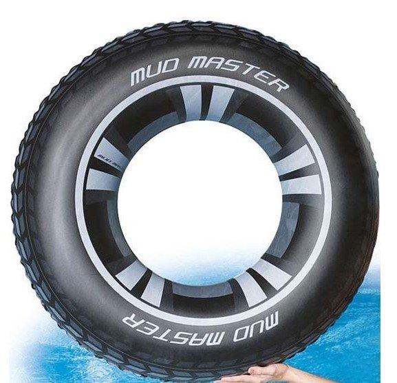 Bílo-černý nafukovací kruh Pneumatika Bestway - průměr 91 cm