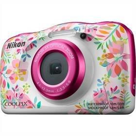 Bílo-růžový outdoorový fotoaparát Coolpix W150, Nikon