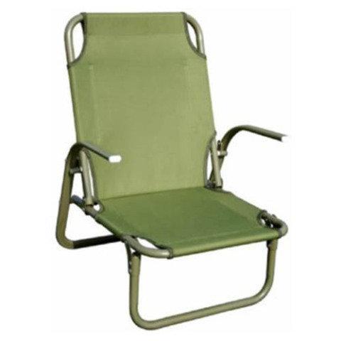 Kempingová židle - Židle armádní KIRKIN nízký posez ZELENÁ