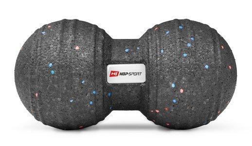 Černý masážní míč Hop-Sport - průměr 12 cm a délka 24 cm