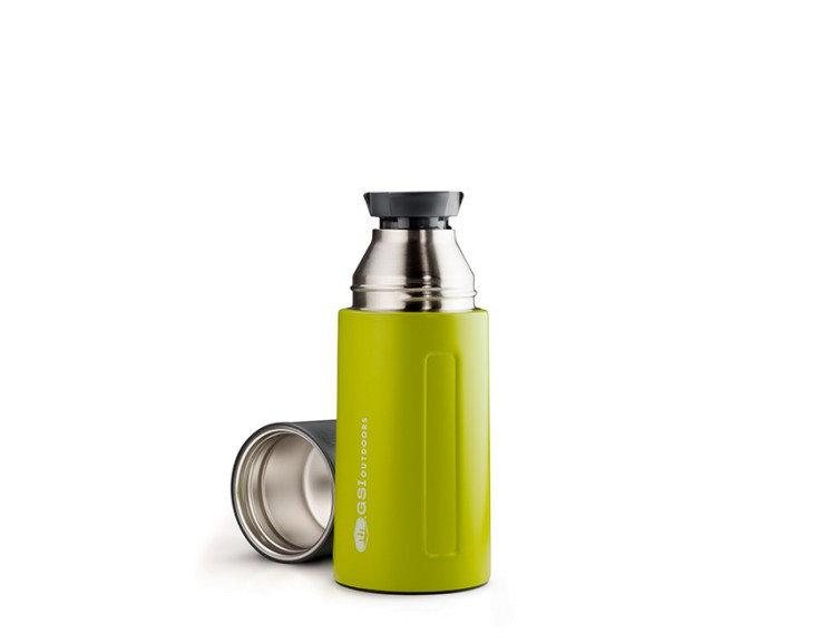 Zelená termoska na pití GSI - objem 0,5 l