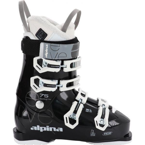 Bílo-černé dámské lyžařské boty Alpina