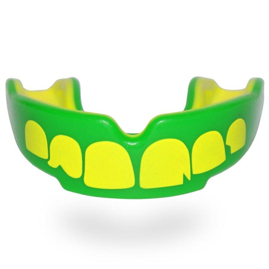 Zeleno-žlutý chránič na zuby na bojové sporty SAFEJAWZ