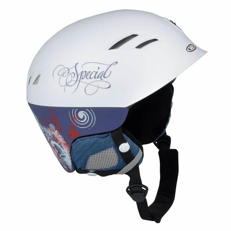 Bílá lyžařská helma Worker - velikost 52-55 cm