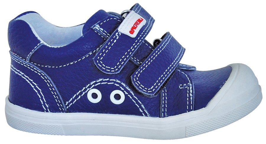 c083681cb077 Modré kožené dětské chlapecké tenisky Protetika - velikost 19 EU ...