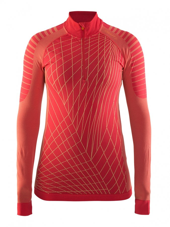 Oranžové dámské funkční tričko s dlouhým rukávem Craft - velikost L